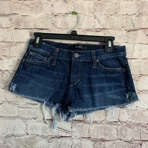 Joes Jeans 25 Blue Distressed Booty Shorts